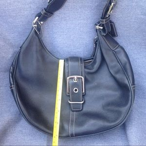 Coach hobo leather bag